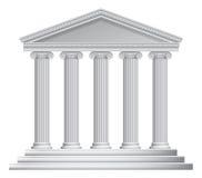 Греческие или римские столбцы виска Стоковое Изображение