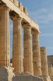 Греческие колонки, акрополь, athens стоковое фото rf