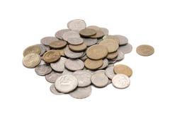 Греческие монетки драхмы Стоковая Фотография RF
