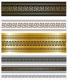Греческие орнаменты для ваших проектов Стоковое фото RF