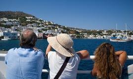 греческие острова Остров Leros Самое лучшее туристское назначение стоковое изображение
