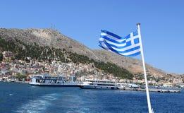 греческие острова Остров Leros Самое лучшее туристское назначение стоковое изображение rf