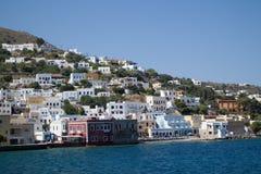 греческие острова Остров Leros Самое лучшее туристское назначение стоковые фотографии rf