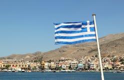 греческие острова Kalymnos гавань Самое лучшее туристское назначение в Эгейском море стоковое изображение rf