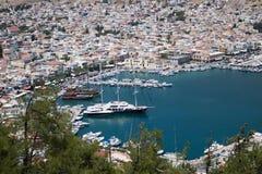 греческие острова Kalymnos гавань Самое лучшее туристское назначение в Эгейском море стоковые фото