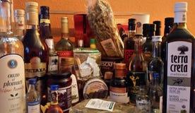 Греческие продукты Стоковые Фотографии RF