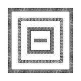 Греческие рамки меандра, иллюстрация штока