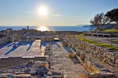 греческие римские руины Стоковая Фотография RF