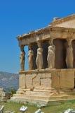 Греческие руины Парфенона на акрополе в Афинах, Греции стоковые изображения rf