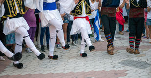 Греческие танцы Стоковое Изображение