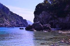 Греческие фьорды стоковые фотографии rf