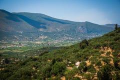 греческие холмы Стоковые Изображения