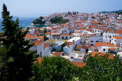 греческие skiathos острова стоковая фотография