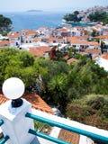 греческие skiathos острова стоковые фото