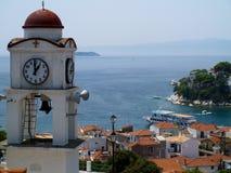 греческие skiathos порта острова стоковые фото