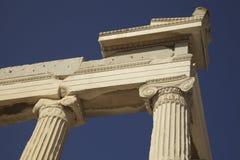 Греческий акрополь колонок Стоковые Фото