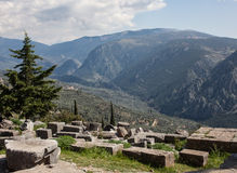 Греческий ландшафт: взгляд от Дэлфи стоковые изображения rf
