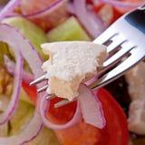 Греческий вегетарианский салат Стоковые Фото