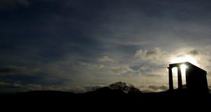 Греческий висок на холме Calton, Эдинбурге Стоковые Изображения RF