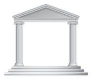 Греческий висок столбца иллюстрация штока