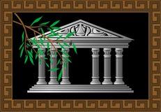 греческий висок иллюстрация штока
