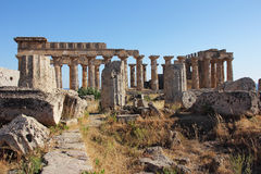 греческий висок стоковые изображения