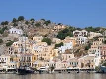 греческий городок гавани Стоковые Изображения