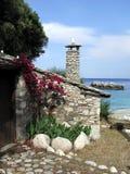 греческий дом Стоковая Фотография