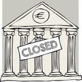 Греческий закрытый банк иллюстрация штока