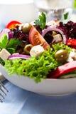 греческий заполненный салат перца оливок Стоковое Изображение RF