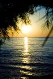 греческий заход солнца Стоковые Изображения