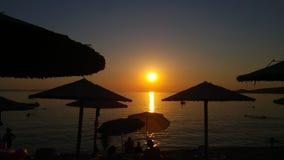 Греческий заход солнца 3 Стоковая Фотография