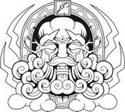 Греческий Зевс Thunderer бога Стоковые Фотографии RF