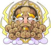 Греческий Зевс Thunderer бога Стоковая Фотография