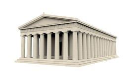 Греческий изолированный висок иллюстрация вектора
