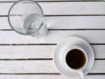 Греческий кофе, Lesvos, Греция Стоковые Изображения RF