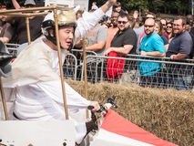 Греческий красный водитель импровизированной трибуны Bull Стоковая Фотография RF