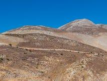 Греческий ландшафт на Пелопоннесе, полуострове Mani стоковые фотографии rf