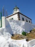 греческий маяк Стоковая Фотография