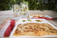 Греческий обедающий Стоковая Фотография