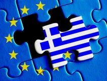 Греческий долговой кризис Стоковые Изображения