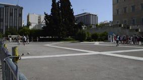 Греческий парламент на синтагме придает квадратную форму видеоматериал
