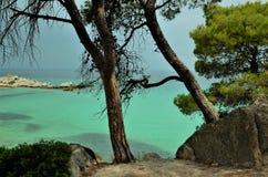 Греческий пляж море стоковое изображение