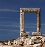 греческий портал стоковые изображения