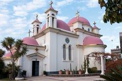 Греческий правоверный монастырь 12 апостолов в Capernaum Стоковая Фотография