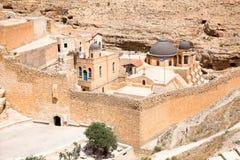 Греческий правоверный скит в пустыне Judean Стоковая Фотография