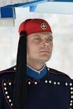 Греческий предохранитель в Афиныы, Греции Стоковое Изображение RF