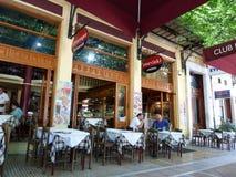Греческий ресторан в Афинах Стоковые Фото