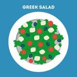 Греческий салат в шаре Органическая здоровая еда бесплатная иллюстрация