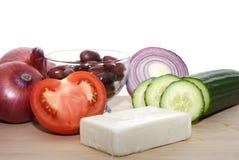 греческий салат ингридиента Стоковая Фотография RF